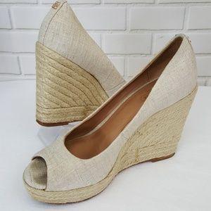 Coach Milan espadrille wedge heel sandals size 7